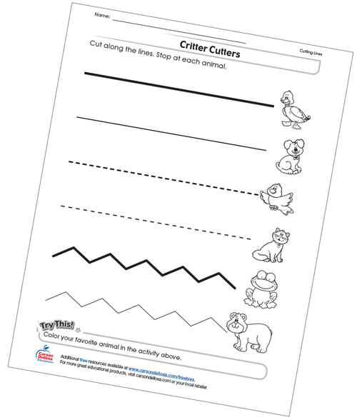 Critter Cutters Free Printable