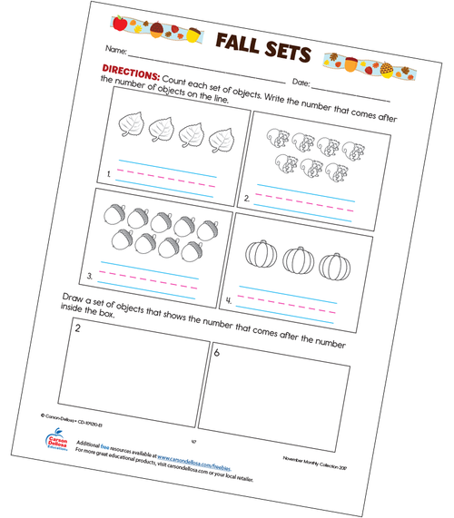Fall Sets Free Printable Worksheet
