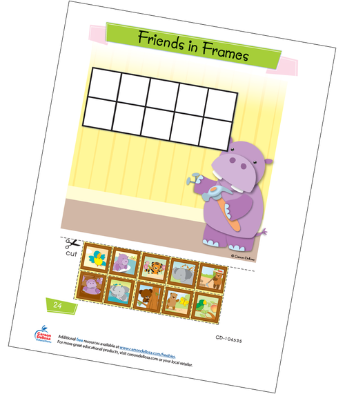 Friends in Frames Free Printable Sample Image
