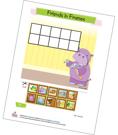 Friends in Frames Free Printable Sample Image