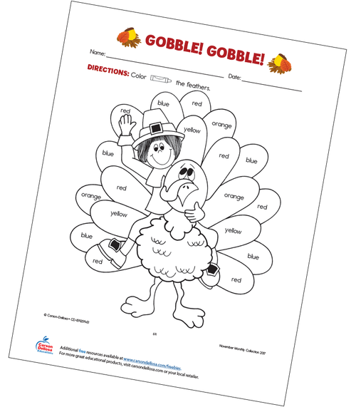 Gobble! Gobble! Free Printable Coloring Page
