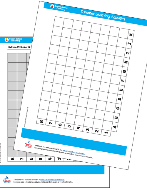 Graphing Hidden Pictures Free Printable Sample Image