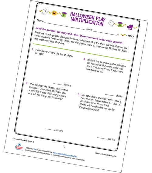 Halloween Play Multiplication Free Printable Sample Image