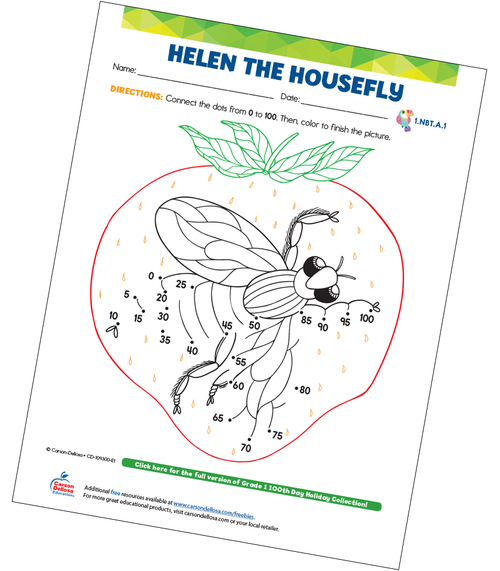 Helen The Housefly (Connect the Dots) Free Printable Sample Image