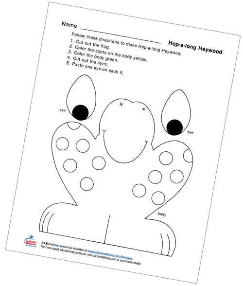Hop-a-long Heywood Free Printable