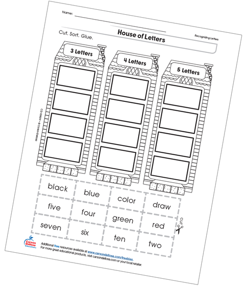House of Letters Free Printable