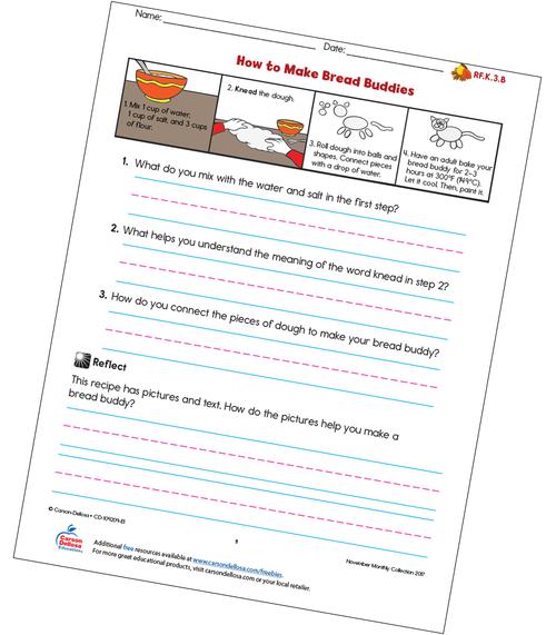 How to Make Bread Buddies Free Printable Sample Image