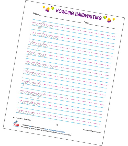 Howling Handwriting Grade 3 Free Printable