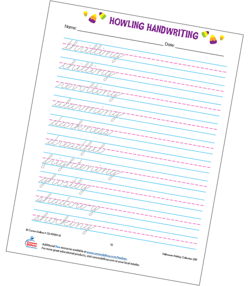 Howling Handwriting Grade 5 Free Printable
