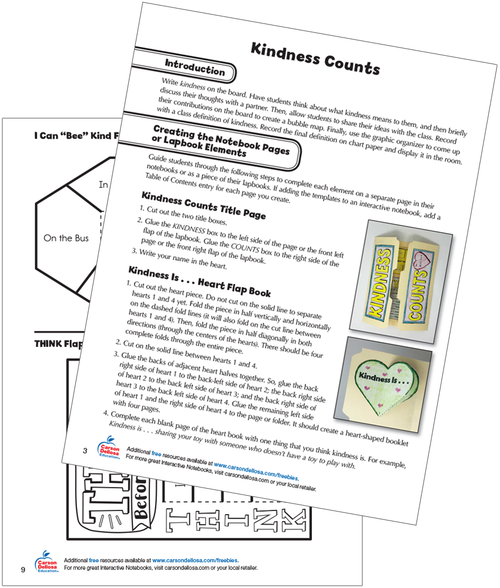 Kindness Counts: Interactive Notebooks & Lapbooks Free Printable