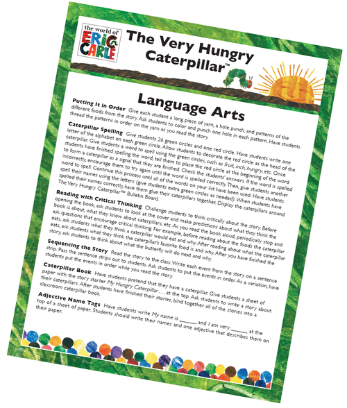 The Very Hungry Caterpillar Language Arts Activity Free Printable