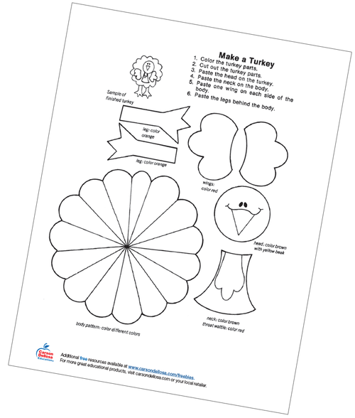 Make A Turkey Free Printable Coloring Page