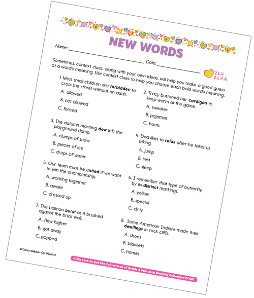 New Words Free Printable