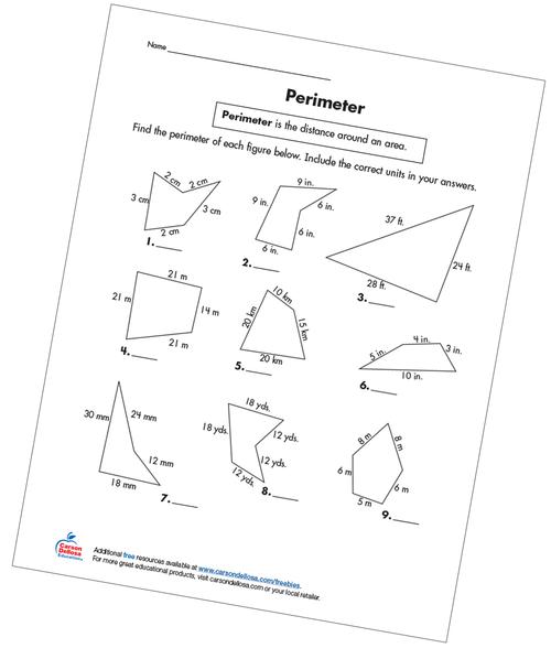 Perimeter Grade 3 Free Printable