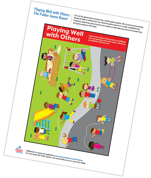 Playing Well with Others File Folder Game Free Printable