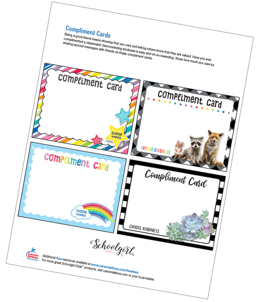 Schoolgirl Style: Compliment Cards Free Printable
