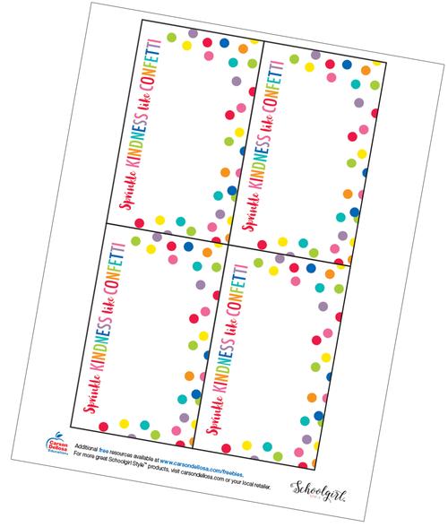 Schoolgirl Style: Confetti Quote Card Free Printable