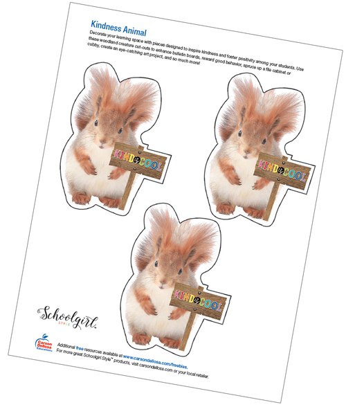 Schoolgirl Style: Kindness Animal Free Printable