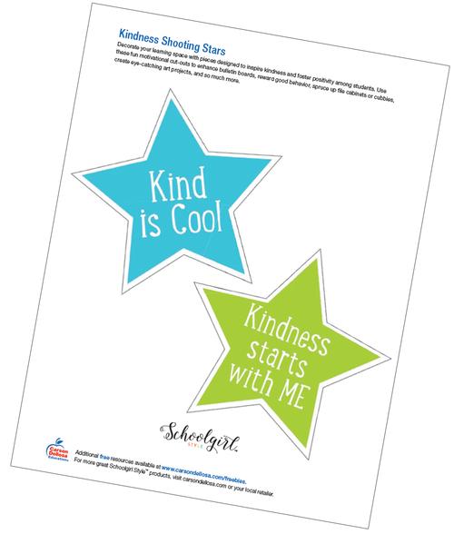 Schoolgirl Style: Kindness Shooting Stars Free Printable