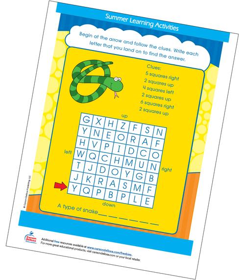 Snake Puzzle Free Printable