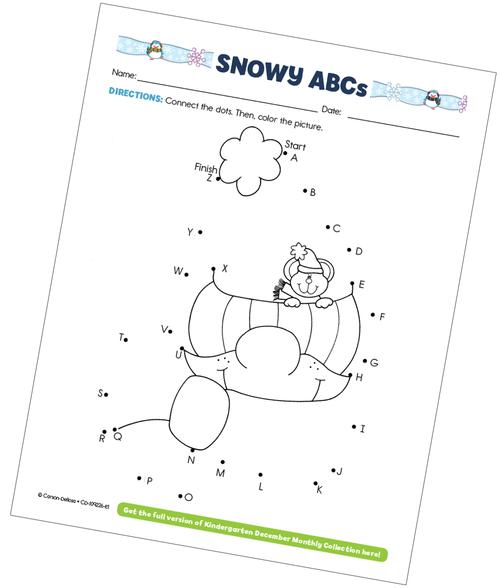 Snowy ABCs Free Printable