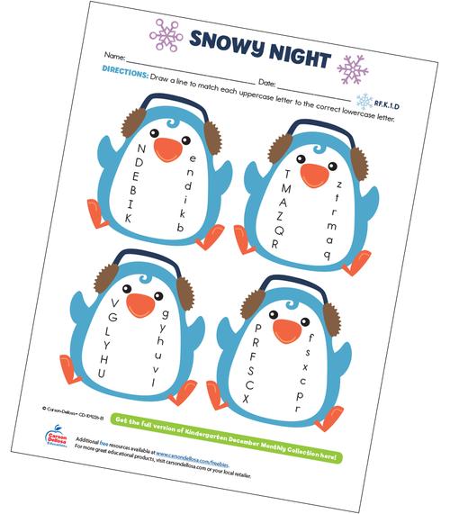 Snowy Night Free Printable Sample Image
