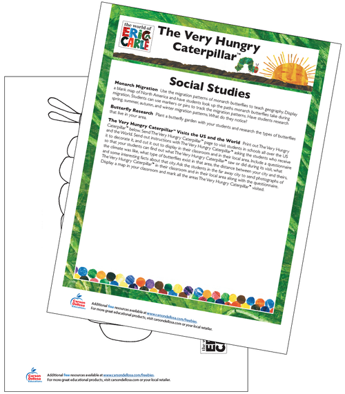 The Very Hungry Caterpillar Social Studies Activity Free Printable