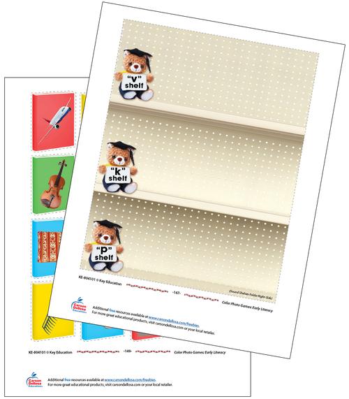 Sound Shelves Free Printable Sample Image