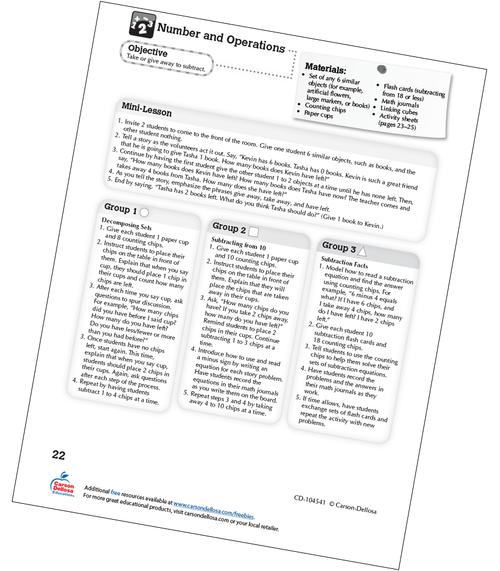 Subtraction Kindergarten Free Printable Sample Image