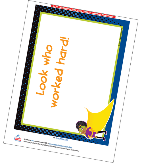 Super Power Full Page Certificate Free Printable Sample Image