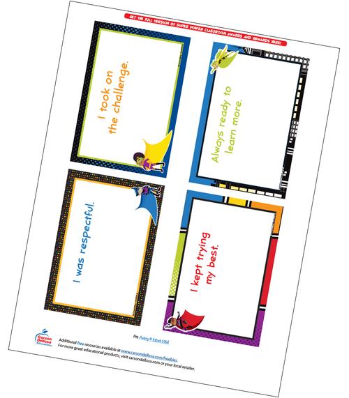 Super Power Quarter Page Certificate Free Printable Sample Image
