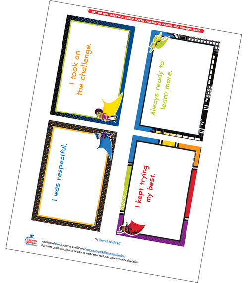 Super Power Quarter Page Certificate Free Printable Sample Image