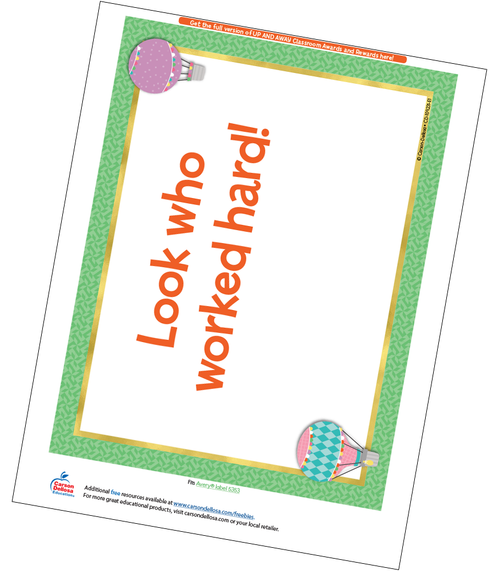 Up and Away Full Page Certificate Free Printable Sample Image