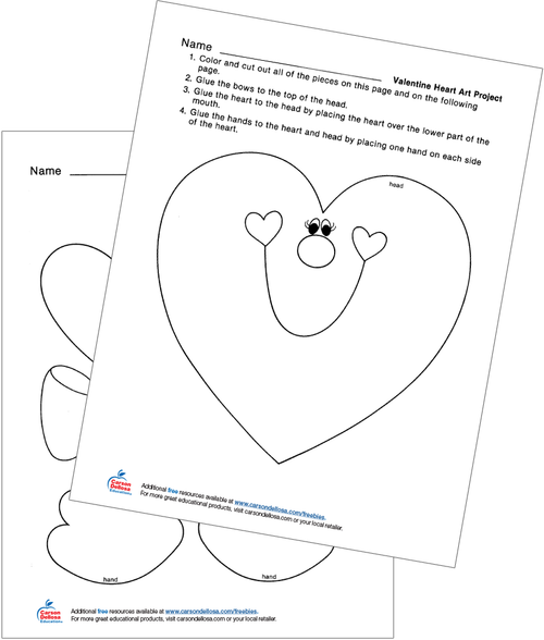 Valentine Heart Art Project Free Printable