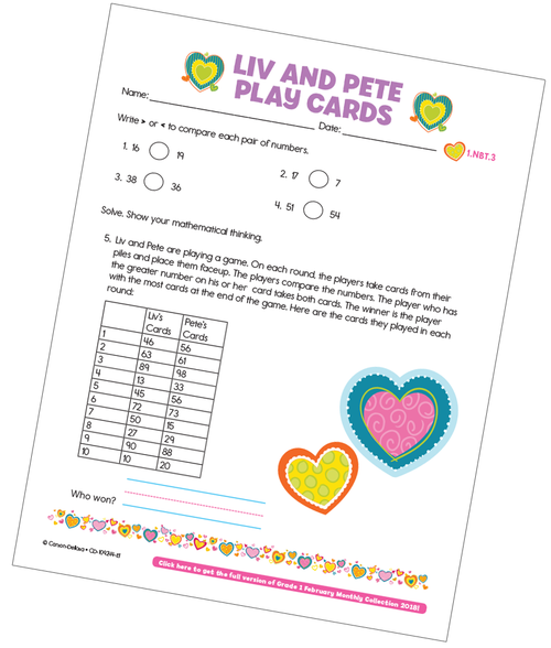 Liv and Pete Play Cards Free Printable