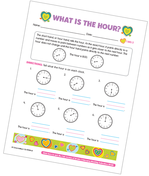 What is the Hour? Free Printable
