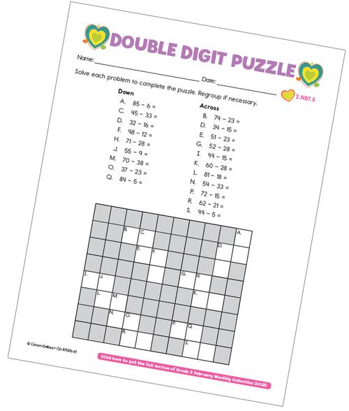 Double Digit Puzzle Free Printable