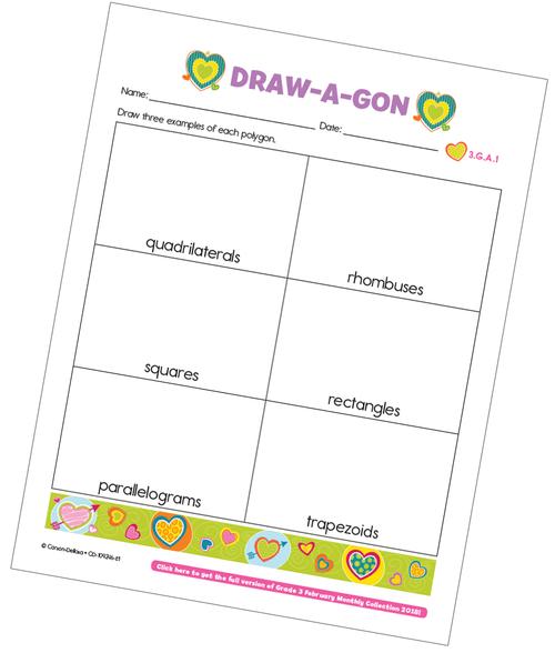 Draw-a-gon Free Printable