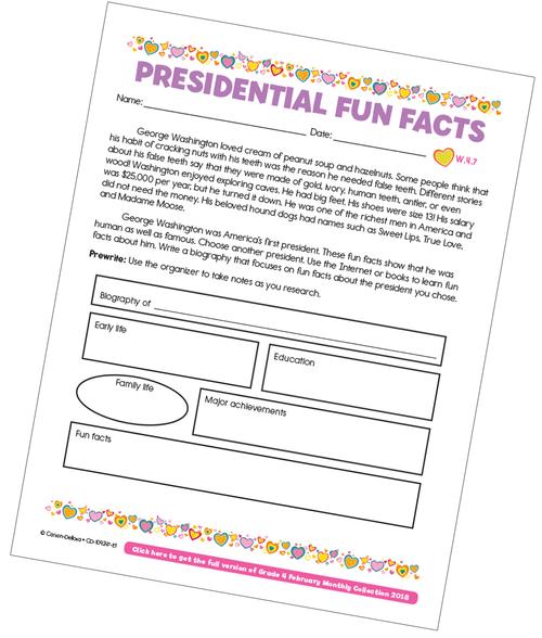 Presidential Fun Facts Free Printable