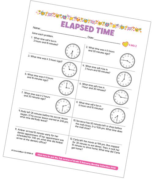Elapsed Time Free Printable