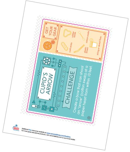 Cupid's Arrow STEM Challenge Free Printable