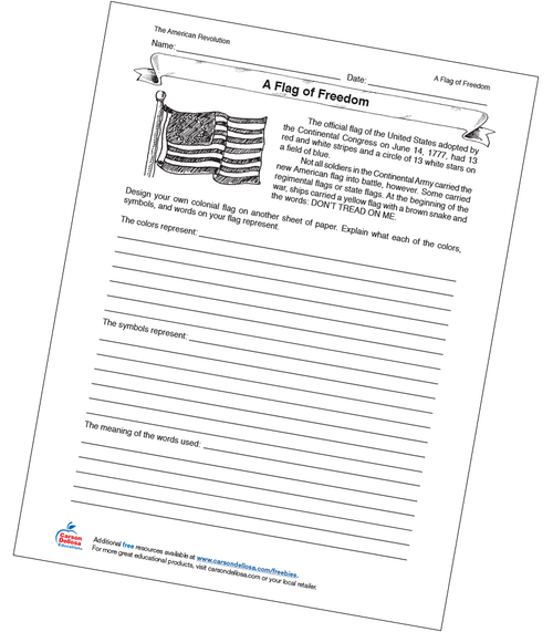 A Flag of Freedom Activity Free Printable