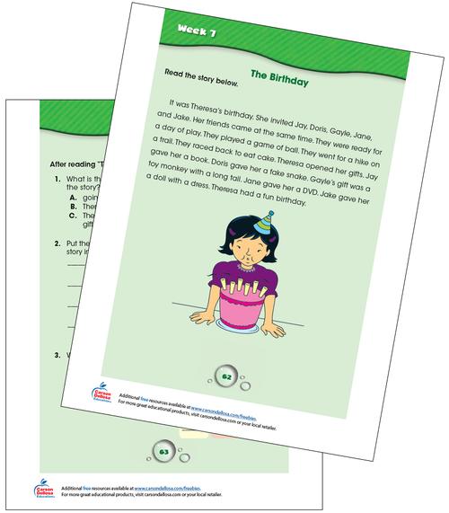 Week 7 Grades K-1 Free Printable Sample Image