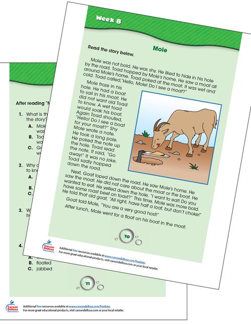 Week 8 Grades K-1 Free Printable Sample Image