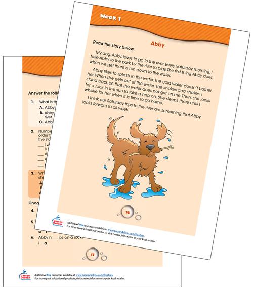 Week 1 Grades 1-2 Free Printable Sample Image