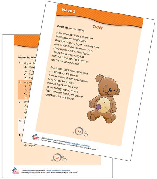 Week 2 Grades 1-2 Free Printable Sample Image