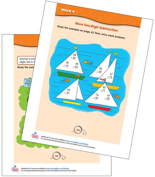 Week 4 Grades 1-2 Free Printable Sample Image