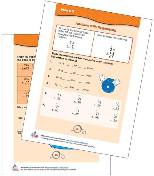 Week 5 Grades 1-2 Free Printable Sample Image