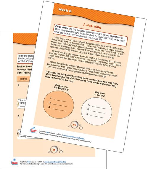 Week 6 Grades 1-2 Free Printable Sample Image