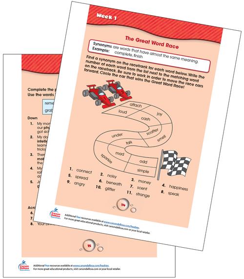 Week 1 Grades 2-3 Free Printable Sample Image